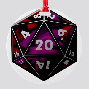 D20 color Round Ornament